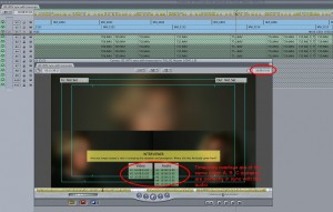 Original media string-out with correct timeline timecode